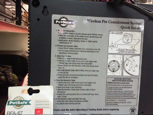 PETSAFE Miscellaneous Appliances WIRELESS PET CONTAINMENT SYSTEM