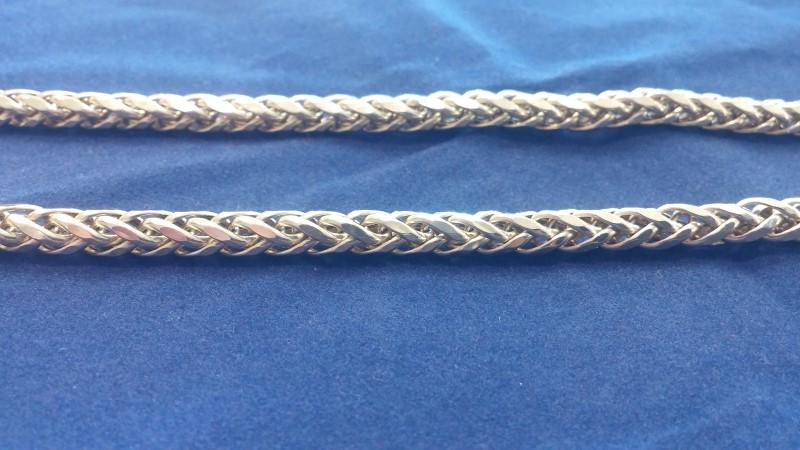 "26"" Gold Fashion (Wheat Link) Chain 10K Yellow Gold 27.8g"