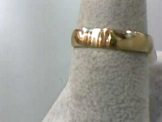 Lady's Gold Wedding Band 10K Yellow Gold 1.4dwt Size:8