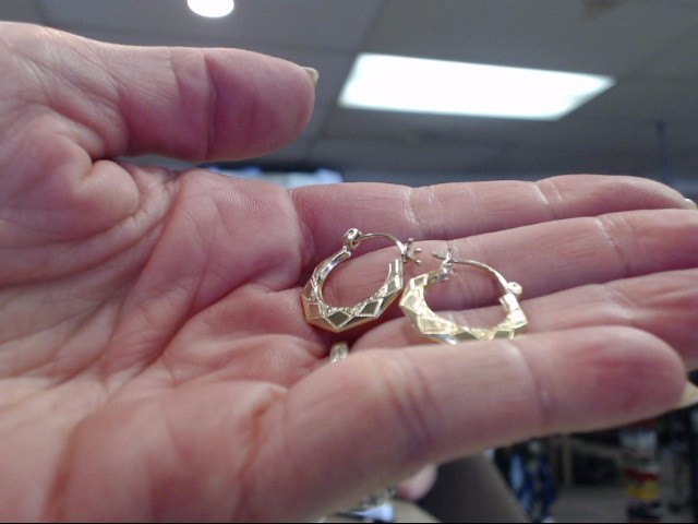 Gold Earrings 10K Yellow Gold 0.65dwt