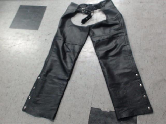 FMC TECHNOLOGIES Clothing BLACK LEATHER CHAPS