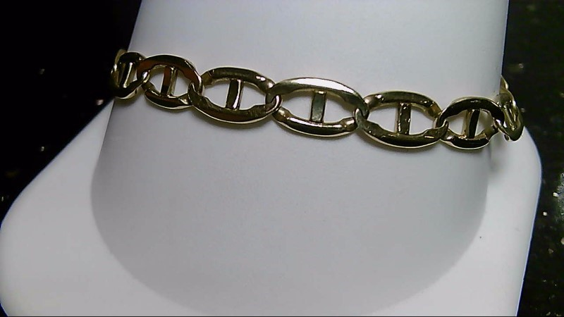 "9"" Gold Anchor Bracelet 14K Yellow Gold 12.5g"