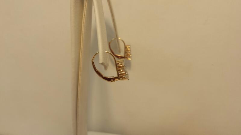 14k Yellow Gold Earrings with 6 Diamonds at .50ctw - .7dwt - Pair