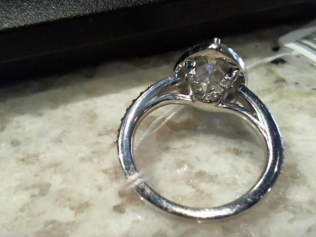 Synthetic Cubic Zirconia Lady's Stone & Diamond Ring 41 Diamonds .41 Carat T.W.