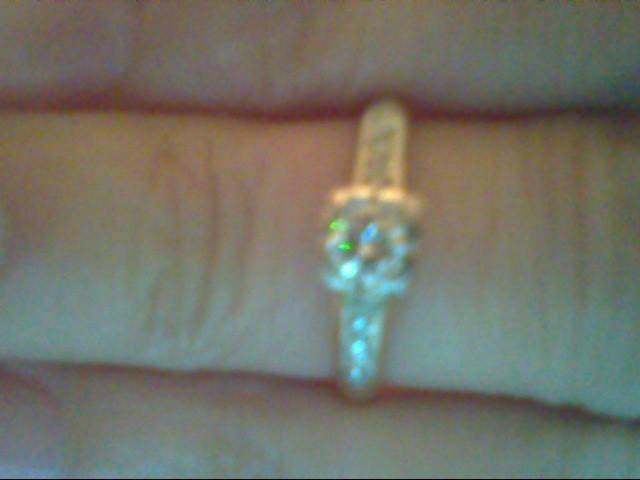 Lady's Diamond Engagement Ring 7 Diamonds .28 Carat T.W. 14K Yellow Gold 1.8g