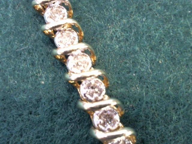 Gold-Diamond Bracelet 40 Diamonds 2.00 Carat T.W. 10K Yellow Gold 11.4g