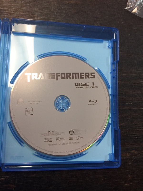 BLU-RAY MOVIE Blu-Ray TRANSFORMERS