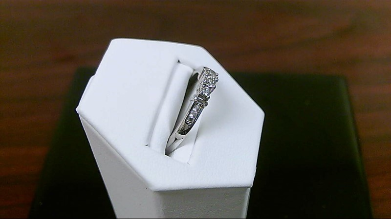 Lady's Gold-Diamond Anniversary Ring .18 Carat T.W. 10K White Gold and sterling