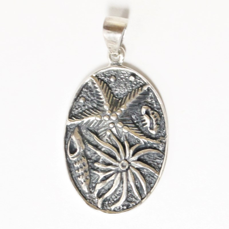 OCEAN LIFE STARFISH STERLING SILVER PENDANT