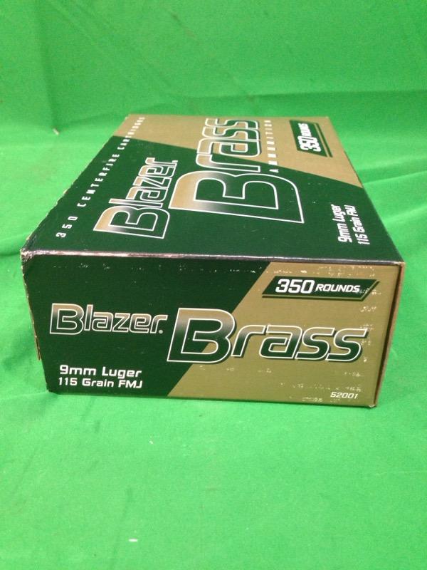 Blazer Brass 9mm 115gr FMJ / 350 Rounds