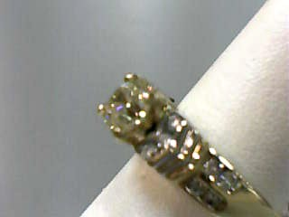 Lady's Diamond Engagement Ring 15 Diamonds 1.45 Carat T.W. 14K Yellow Gold