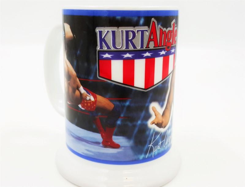 Danbury Mint WWF Kurt Angle Collector Wrestling Mug / Stein 2001