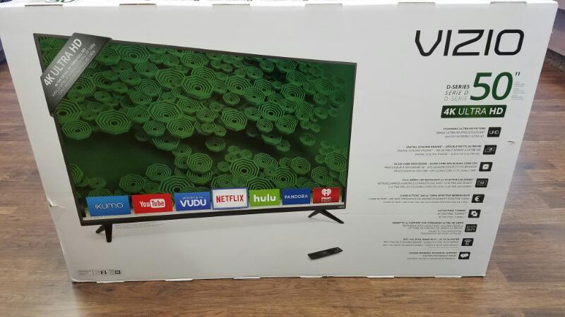 "BRAND NEW VIZIO 50"" 4K ULTRA HD TV D50U-D1"