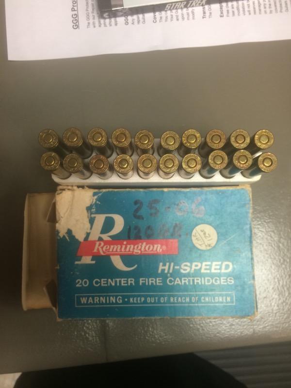 REMINGTON FIREARMS & AMMUNITION Ammunition 25-06 REM 120 GR CORE-LOKT PSP