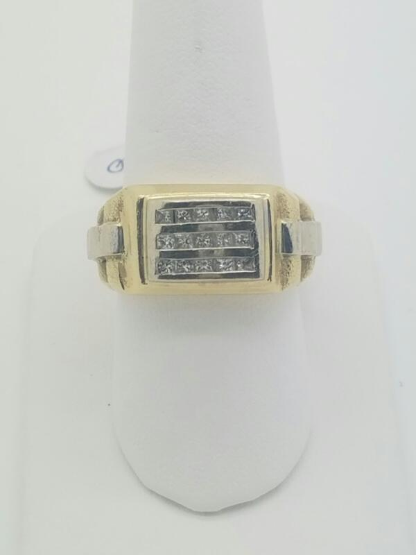 M'S 14KT Gent's Diamond Cluster Ring ROLEX 15 Diamonds 1.50 Carat T.W.