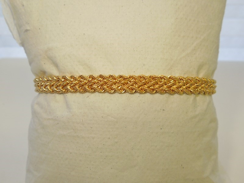 Gold Bracelet 14K Yellow Gold 3.7g