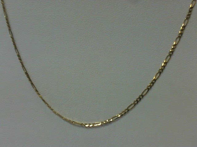 "22"" Gold Figaro Chain 14K Yellow Gold 3.4g"