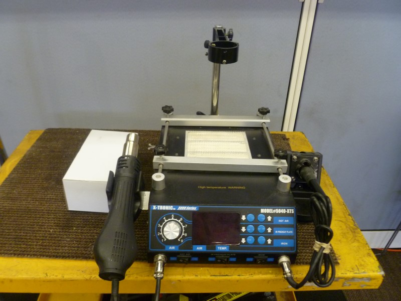 "XTRONIC 5040-XTS ""ALL IN ONE"" HOT AIR REWORK SOLDERING IRON STATION"