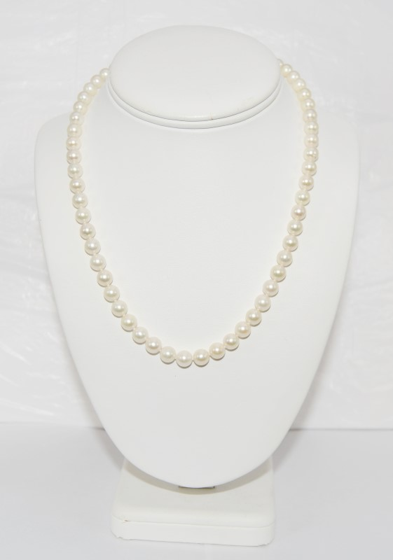 Pearl Stone Necklace 14K Yellow Gold 31.99g