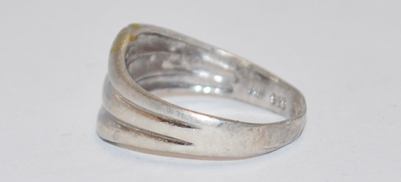 STERLING SILVER WAVE RING Size:6.5