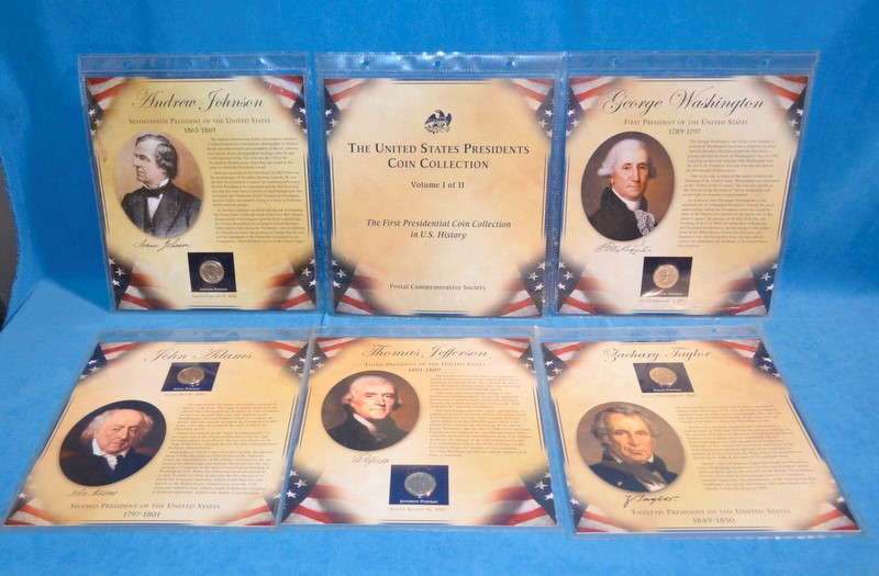 POSTAL COMMEMORATIVE SOCIETY UNITED STATES PRESIDENTS COIN COLLECTION
