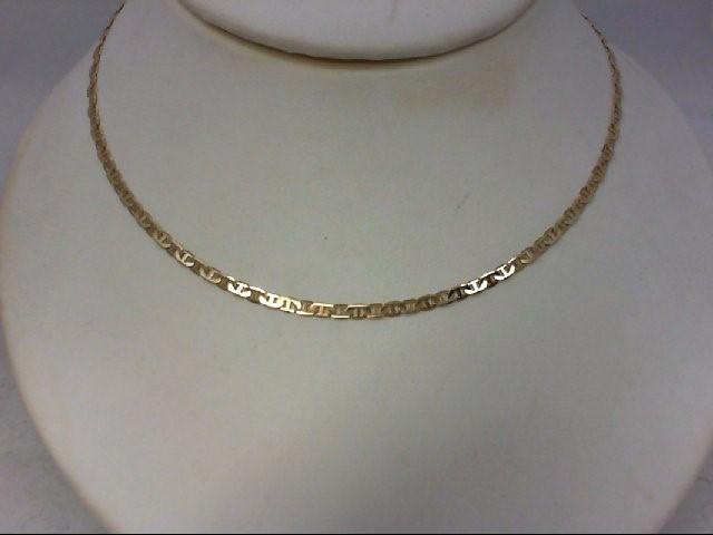 "20"" Gold Fashion Chain 14K Yellow Gold 5.3g"