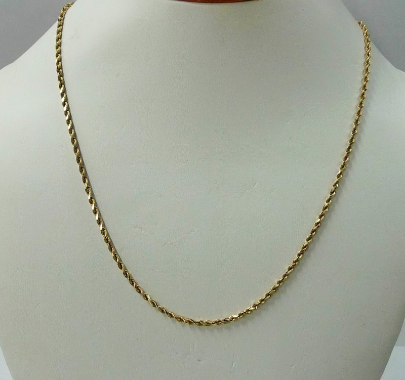 """18"""" Gold Rope Chain 14K Yellow Gold 3.89dwt"""