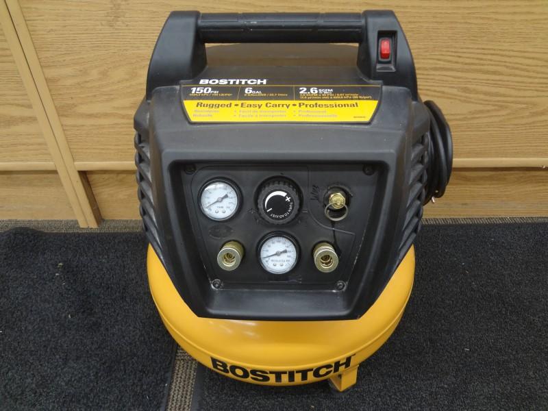 BOSTITCH BTFP02011 PRO GRADE 6 GALLON 150 PSI PANCAKE COMPRESSOR