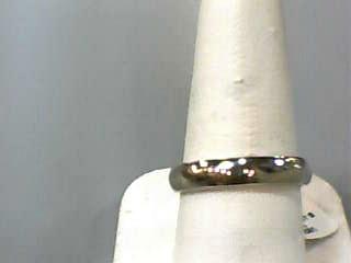 Gent's Gold Wedding Band 10K White Gold 3dwt Size:8