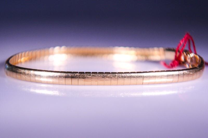 Gold Herringbone Bracelet 14K Yellow Gold 11.5g