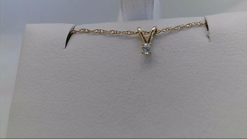 Yellow Gold Diamond Pendant with Chain