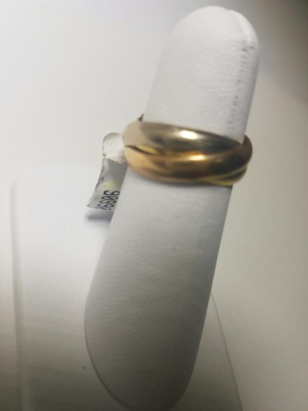 TRICOLOR_3_RING_SET   L'S 18KT NO STONE(S)  4.2/YWR