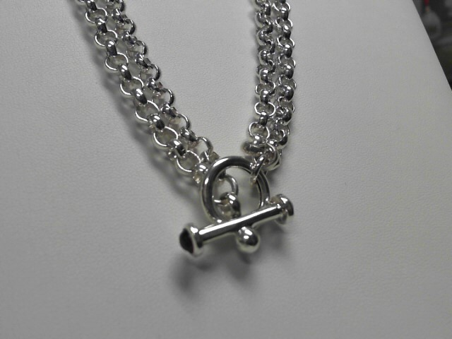 Sterling Silver Double Link Toggle Chain 76.24g