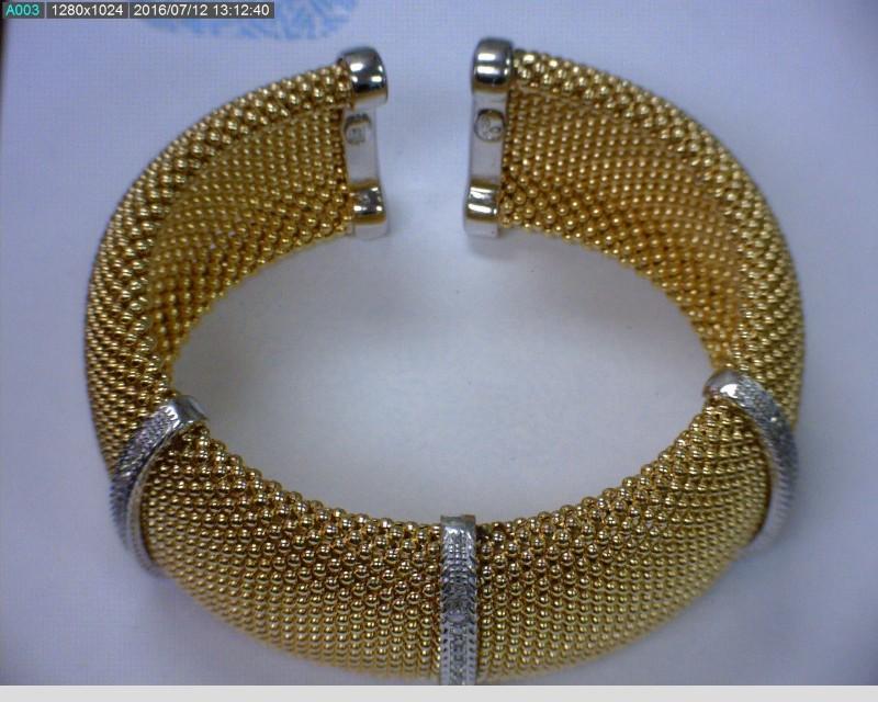 Silver-Diamond Bracelet 51 Diamonds .51 Carat T.W. 925 Silver 38.4dwt