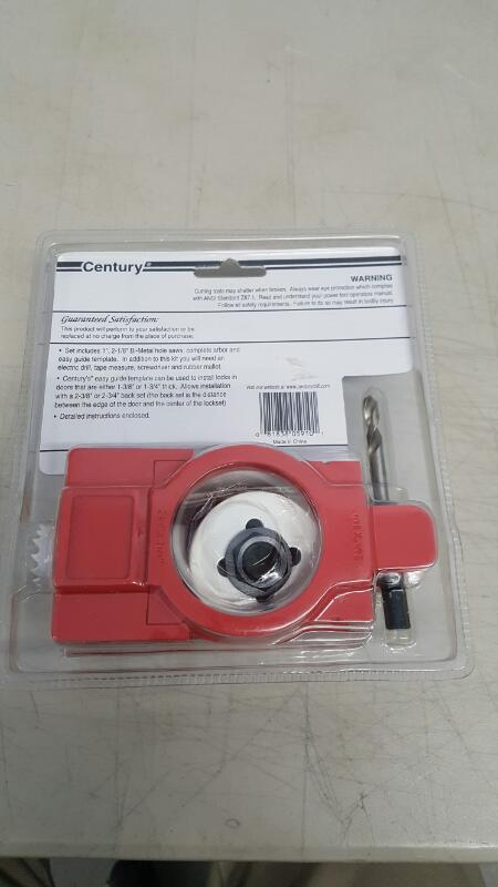 Century Drill and Tool 05910, 4 Piece Metal Door Lock Installation Kit