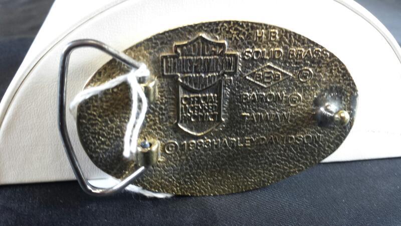 1983 Harley Davidson Knuckle Belt Buckle Brass