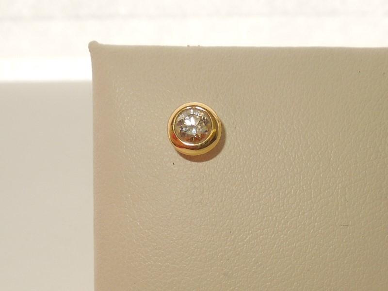 Tiffany & Co. Gold-Diamond Earrings .25 CT. 18K Yellow Gold 0.8g