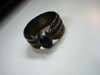 Synthetic Agate Lady's Silver & Stone Ring 925 Silver 7.1g Size:7