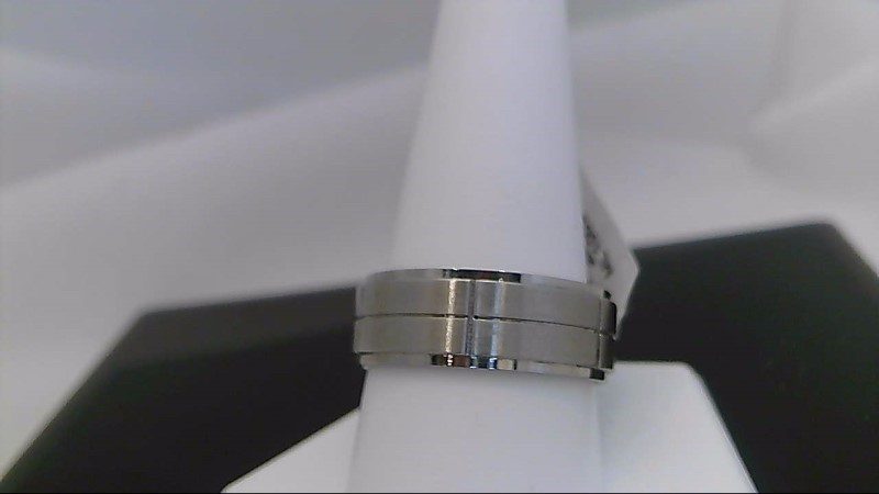 gents stainless steel wedding band 8.8grams