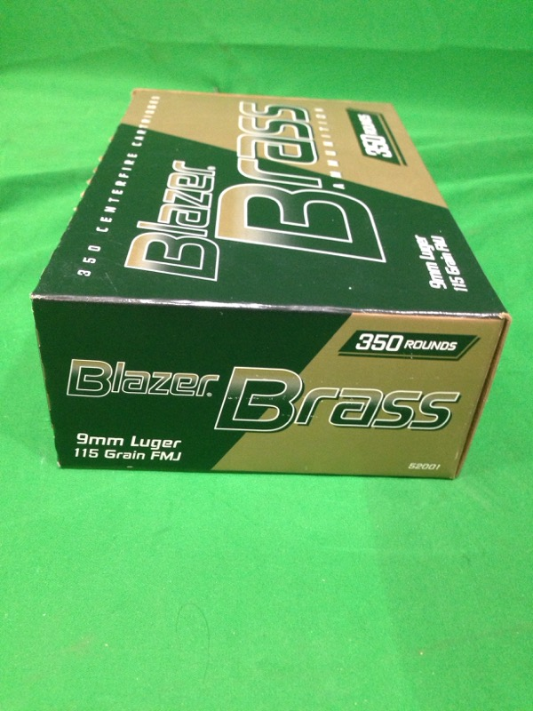 Blazer Brass 9mm 115gr FMJ / 350 Rounds