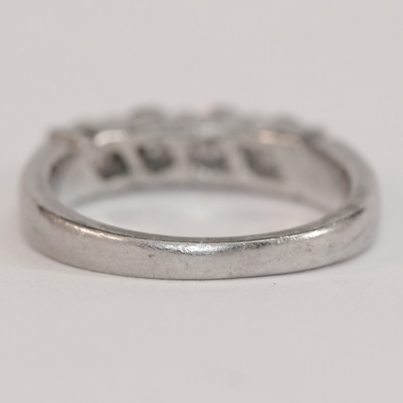 Platinum Brilliant Diamond Wedding Band Size 5