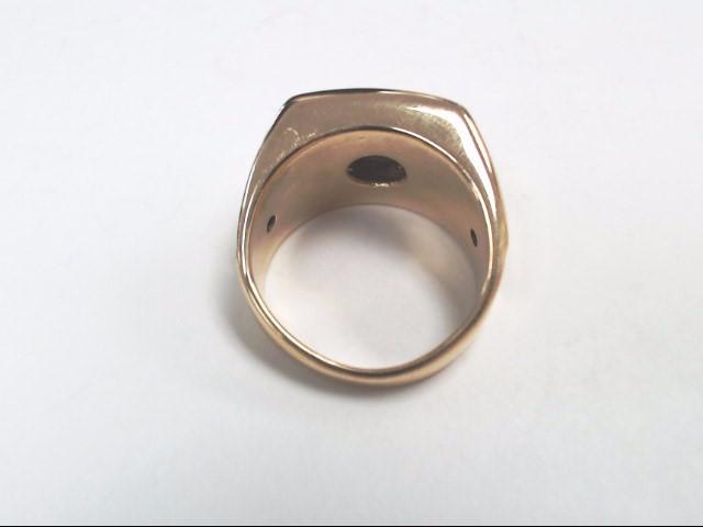 Gent's Diamond Cluster Ring 20 Diamonds .94 Carat T.W. 14K Yellow Gold 11.8g