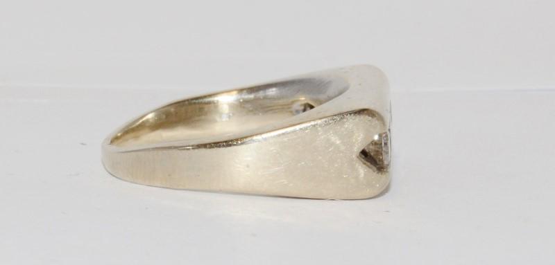 14K Men's Yellow Gold & Diamond Channel Ring Size 9.5
