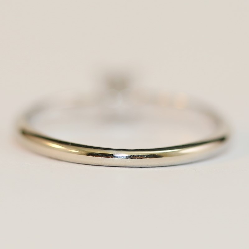 14K White Gold Princess Cut Diamond Solitaire Ring Size 7