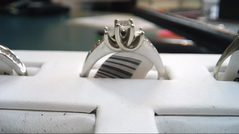 Lady's Diamond Solitaire Ring 9 Diamonds .61 Carat T.W. 10K White Gold 5.2g
