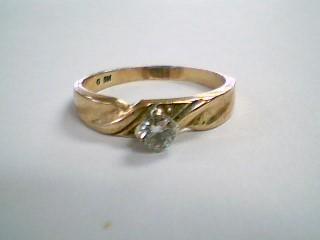 Lady's Diamond Engagement Ring .15 CT. 14K Yellow Gold 2.5g Size:7