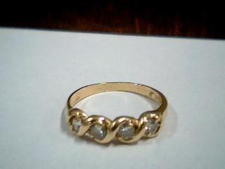 Lady's Gold-Diamond Anniversary Ring 4 Diamonds .32 Carat T.W. 14K Yellow Gold