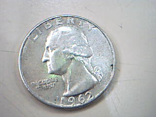 UNITED STATES Silver Coin 1962 WASHINGTON QUARTER