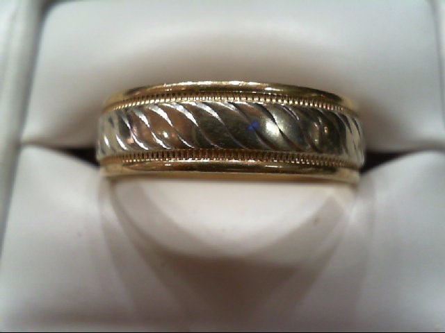 Gent's Gold Wedding Band 14K 2 Tone Gold 5.6g