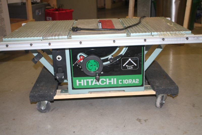 10 Inch Hitachi Table Saw With Job Site Foldable Stand